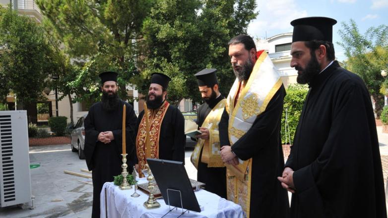 Θεμελίωση Ιερού Ναϊδρίου Παναγίας Βουρλιωτίσσης