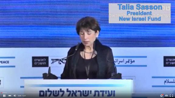 [image - Talia Sasson - Haaretz Peace Conference - Youtube Screen Grab - 575x323]