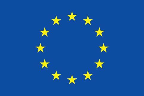 EU flag with yellow stars