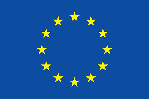 EU flag with yellow stars