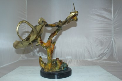 "Double Monterey Bronze Statue -  Size: 14""L x 24""W x 21""H."