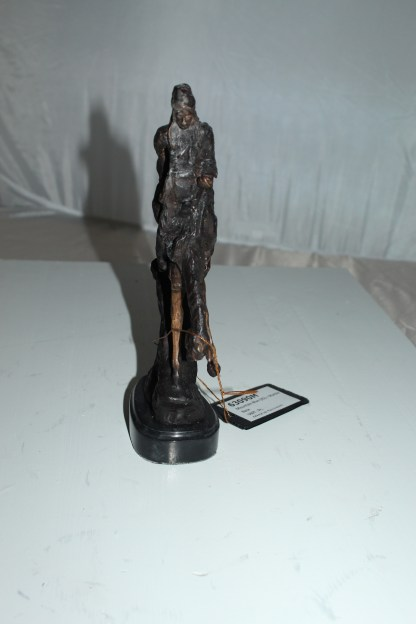 "Mountain man -small, by Remington Bronze Statue -  7""L x 2.5""W x 11""H."