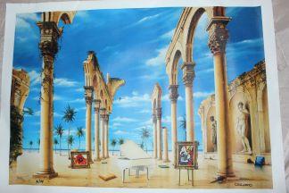 "Orlando Quevedo Giclée - Ancient time Painting -  Size: 21""L x 13.5""W"