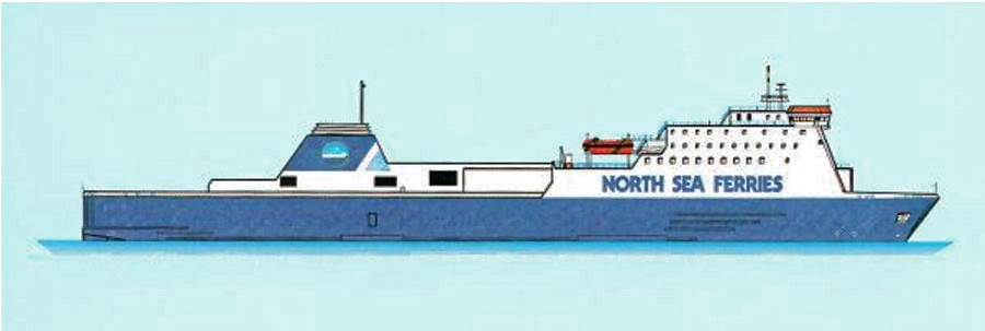 North Sea Ferries drawing of Norbay/Norbank.