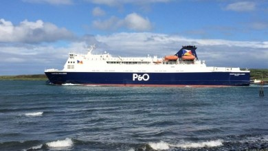 Photo of P&O handle highest volume of freight since 2011.
