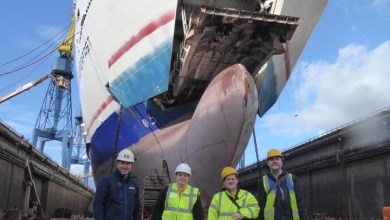Photo of PR: NI Ferry Enthusiasts visit Stena Superfast VII at Harland & Wolff.
