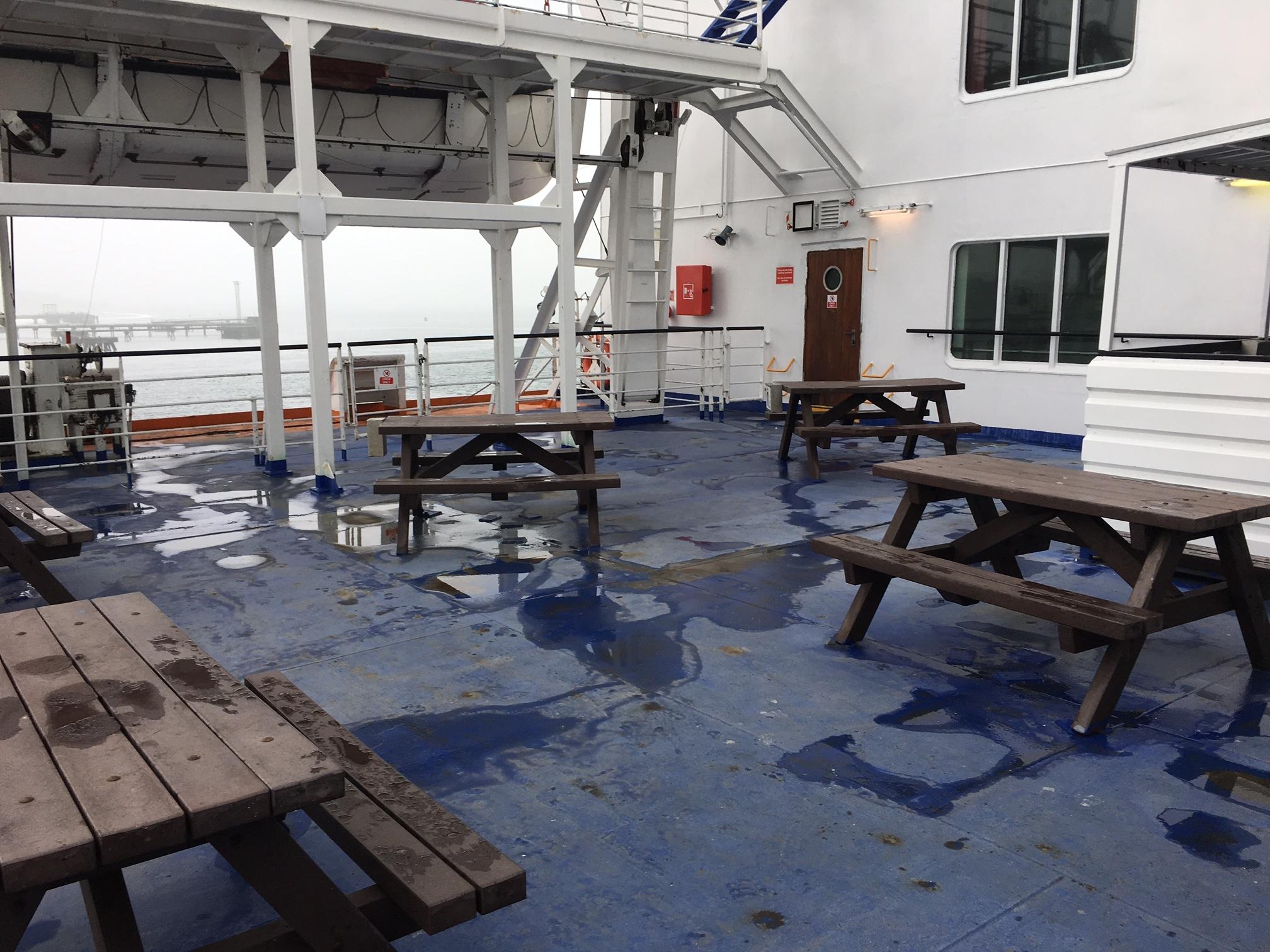Outside deck space on-baord European Seaway. © Steven Tarbox