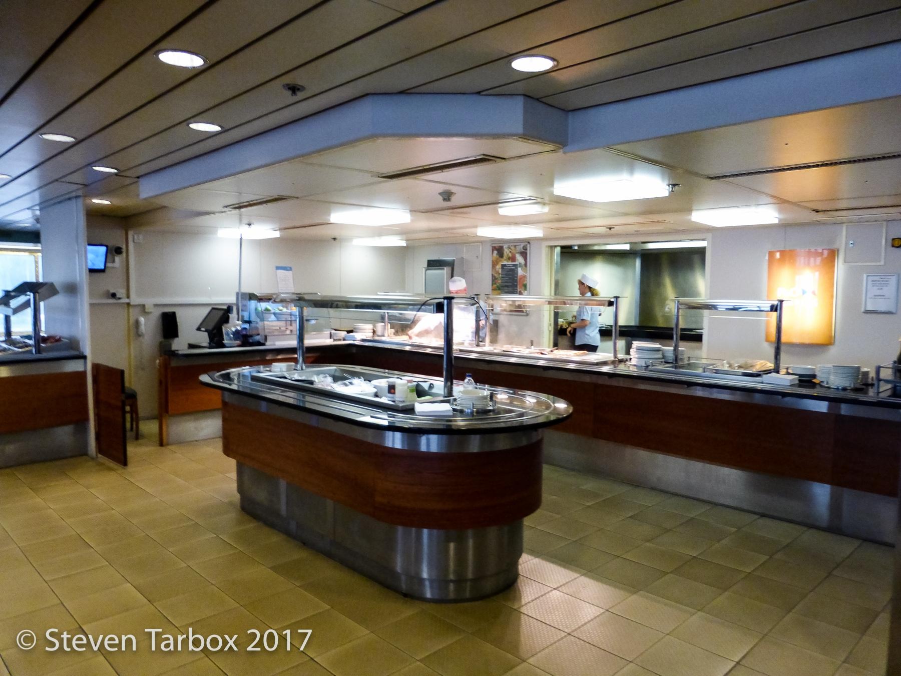 Restaurant counter and salad island.  © Steven Tarbox