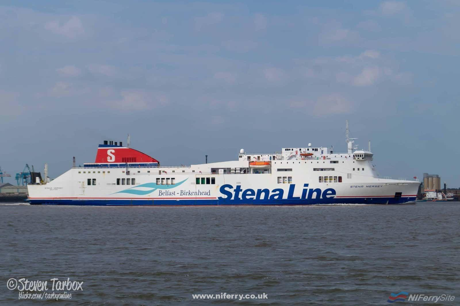 STENA MERSEY approaches Birkenhead after another daytime sailing from Belfast. July 2015. Copyright © Steven Tarbox
