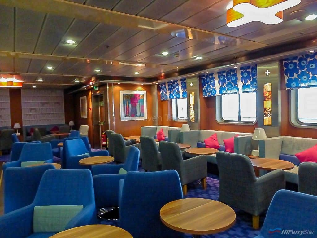 This small but comfortable Stena Plus lounge was added to STENA LAGAN as part of the 2012 refurbishment. It has since been replaced by a larger relocated facility. Taken during a visit to Stena Lagan on 2nd November 2015. With many thanks to Captain Stephen Millar for his hospitality. © Steven Tarbox