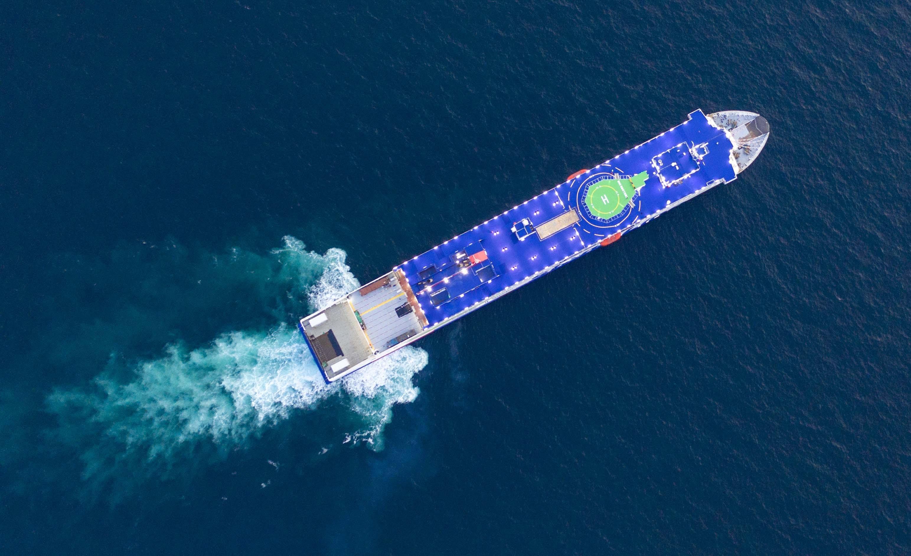 STENA ESTRID on sea trials in the Yellow Sea. Stena Line