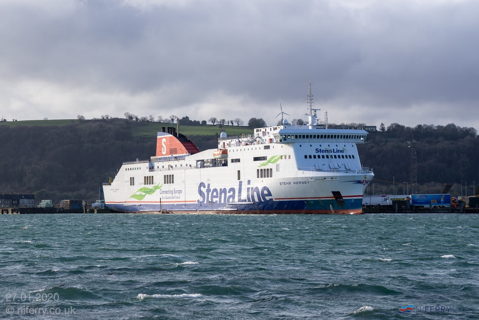 <strong>STENA MERSEY</strong> at Larne, 27.01.2020. Copyright Steven Tarbox / niferry.co.uk.