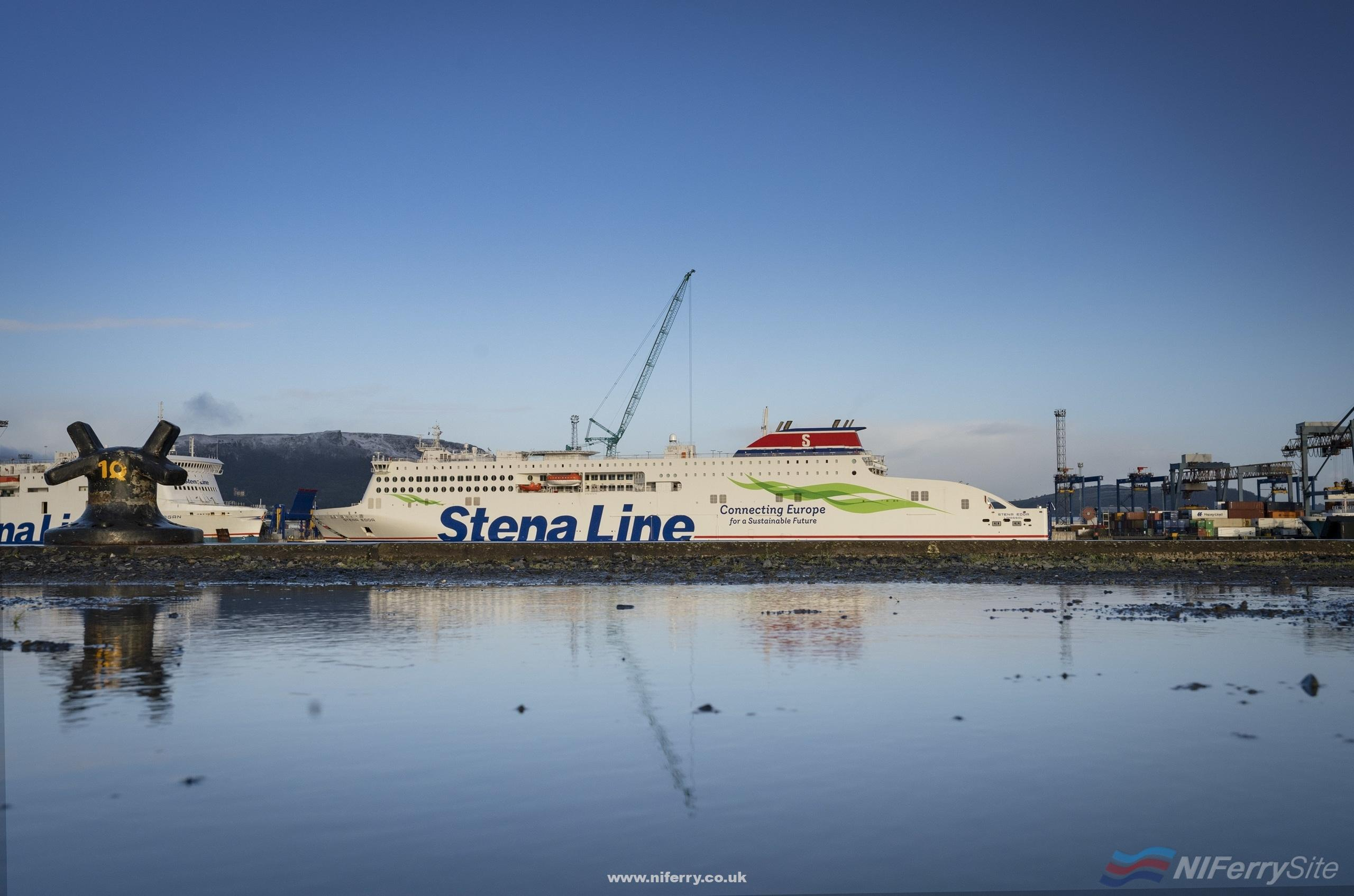 STENA EDDA at Belfast's Victoria Terminal 2. Stena Line.