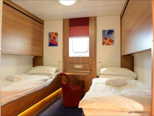 Outside 4-berth cabin on Stena Lagan/Stena Mersey. Stena Line.
