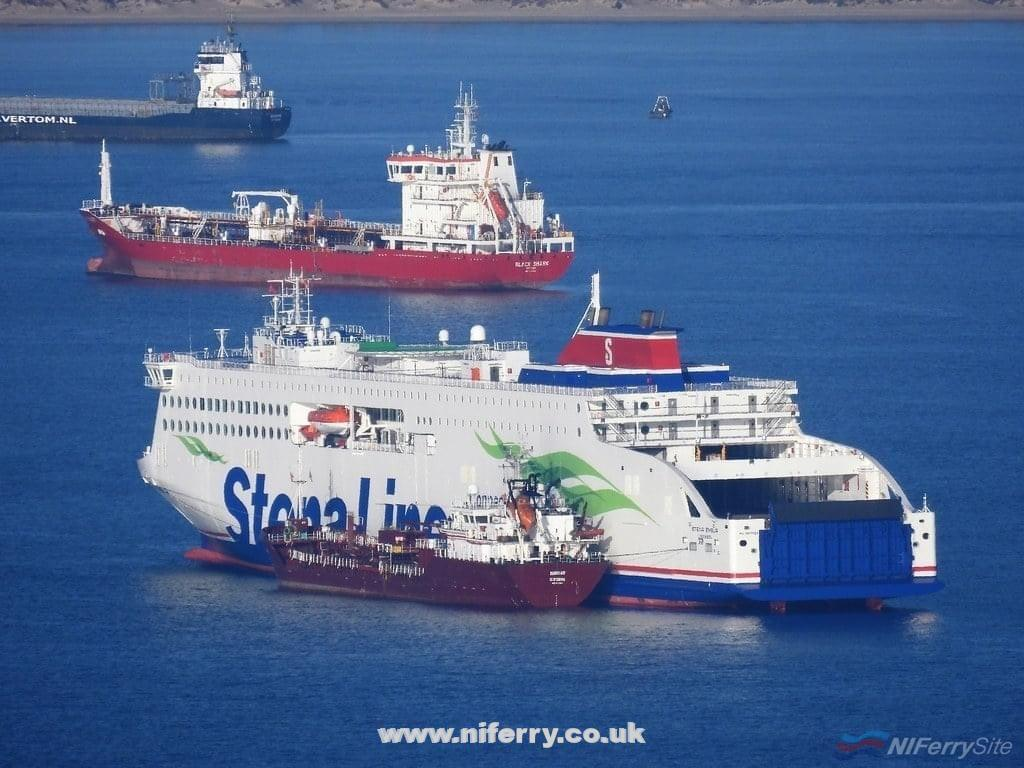 STENA EMBLA bunkering at Algeciras on the morning of 29.12.2020. © Tony Davis.