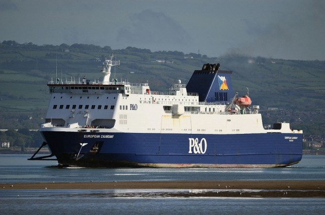European Causeway approaching Belfast, where she was to be refitted. Copyright © Alan Geddes.