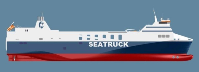 3D model of the FSG class. Courtesy of Seatruck Ferries.