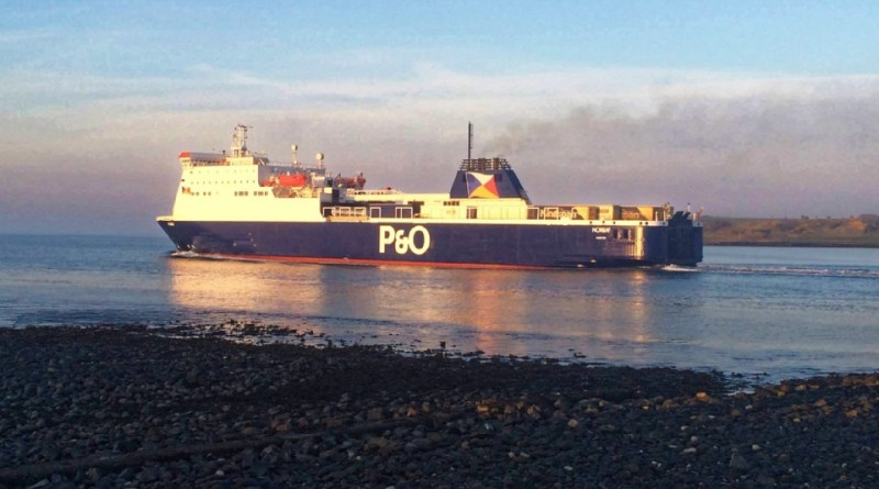 Norbay in the new P&O livery, departing Larne. Copyright © Gary Andrews.