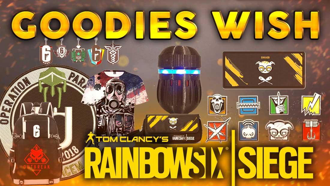 Les meilleurs goodies R6S sur Wish, Ali... Rainbow Six Siege FR