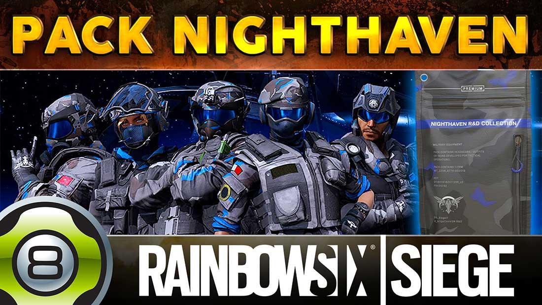 Ouvertures des 18 packs NIGHTHAVEN (Alibi, Fuze, IQ, Jackal, Mute & Rook) - Rainbow Six Siege FR