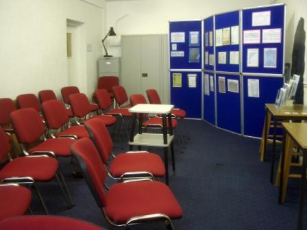 The Honneyman Room, where courses are held.
