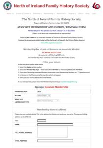 Associate Membership Online Form