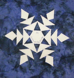 Nifty Fifty Quilters of America Snowflake Quilt Block Swap