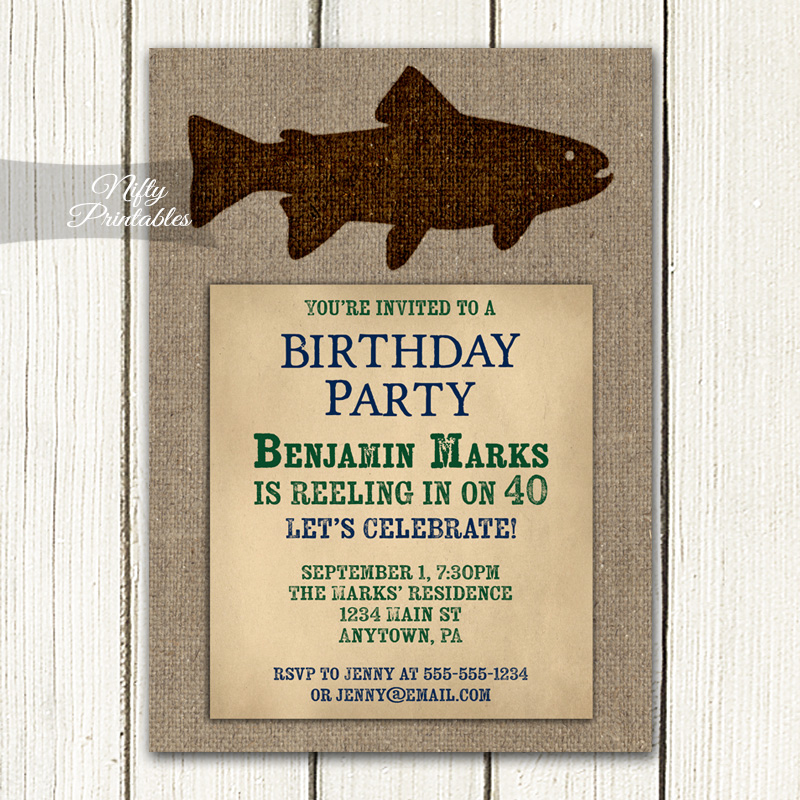 Fishing Birthday Invitations Nifty Printables