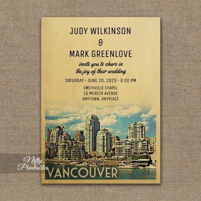 Vancouver Wedding Invitation Printed Nifty Printables