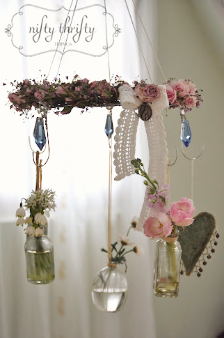 Wire Photo Hanger wire hanger chandelier} | {nifty thrifty things}
