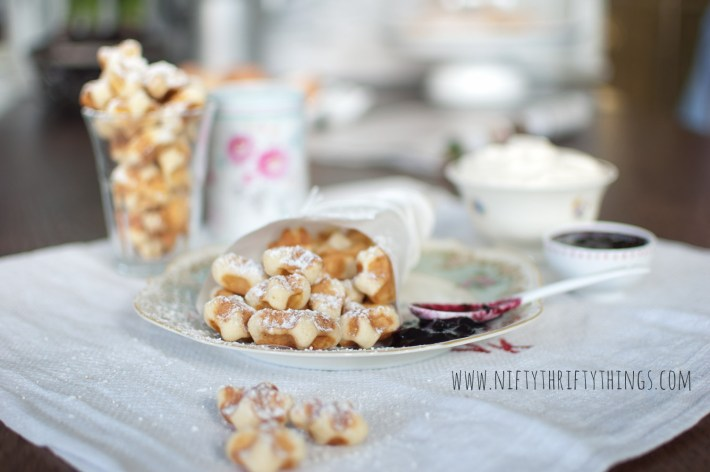 waffles with a twist: waffle drops from {nifty thrifty things}