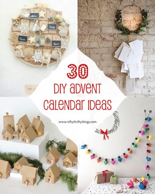 30 DIY Advent Calendar Ideas