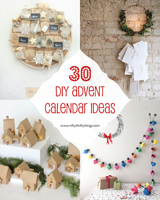 30 DIY Advent Calendar Ideas from {nifty thrifty things}
