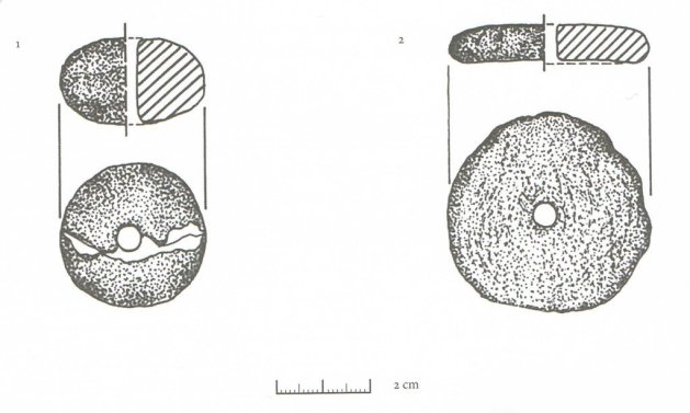 "Oksywska culture spindle whorls from ""Truso studies"" vol 1"