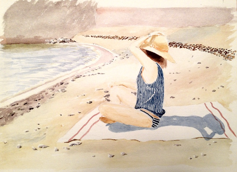 Girl On A Beach by John H Blackwell