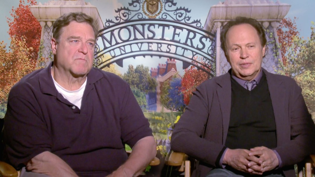 John Goodman and Billy Crystal talking about Monsters University