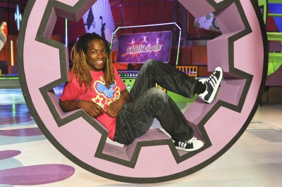 Nigel Clarke on set of CITV's Skillicious