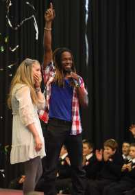 Shannon Saunders  and Nigel Clarke at the My Camp Rock 2 Final