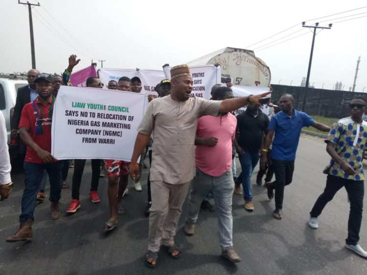 The protesting youths from Delta State