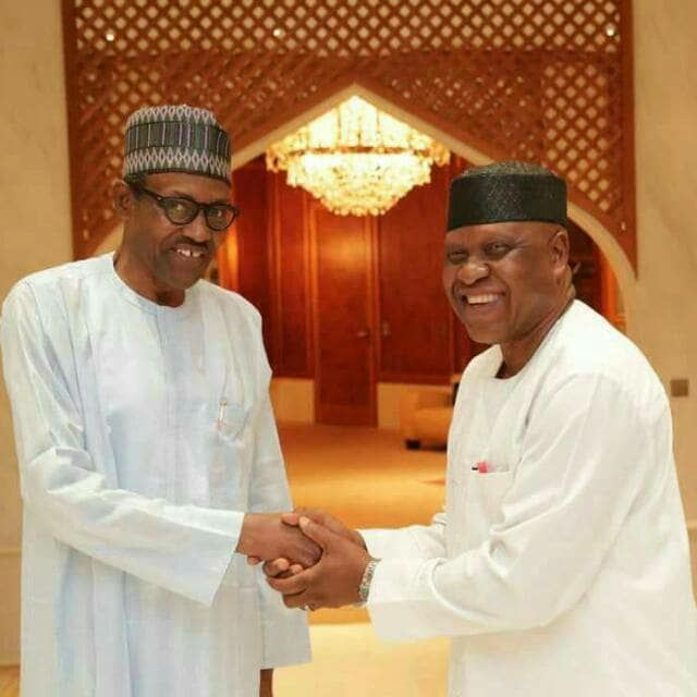 President Buhari and Olorogun O'tega Emerhor