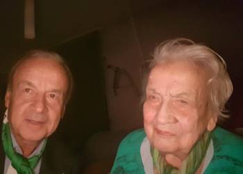 Super Eagles Coach, Gernot Rohr  and Mum