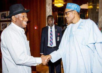 Ex-President Goodluck Jonathan and President Muhammadu Buhari