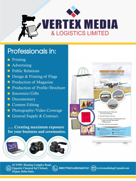 VERTEX MEDIA Advert