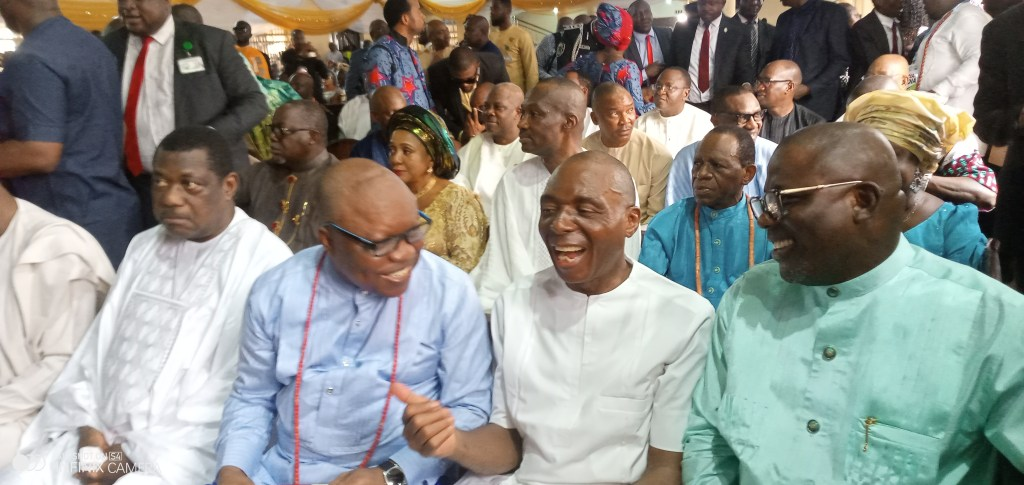 Checkout photos from VIP studded Thanksgiving service for Deputy Senate President, Omo-Agege in Warri, Delta state.