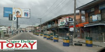 Robinson Plaza along Deco road under lock and key in compliance with  sit-at-home order in Delta State