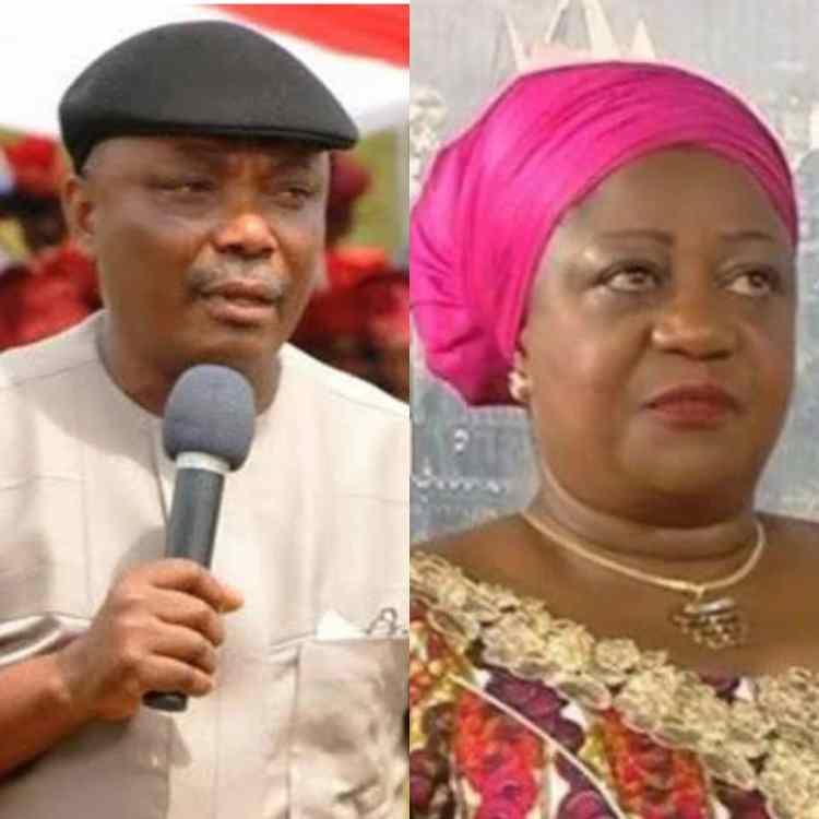 Senator Peter Nwaoboshi and Lauretta Onochie