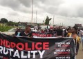 Warri #EndSARS protesters on Wednesday in Warri