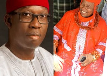 Governor Ifeanyi Okowa and Ovie of Idjerhe Kingdom, His Royal Majesty, Udurhie 1