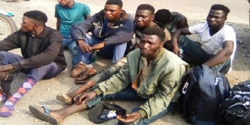 The suspected kidnappers arrested during the weekend