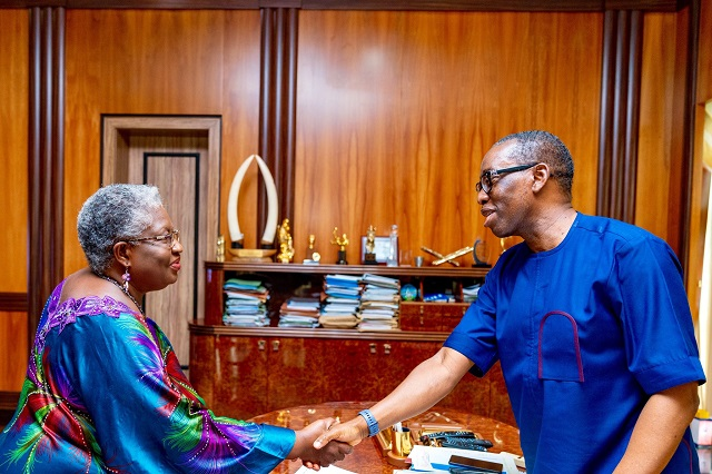 Governor Okowa and Ngozi Okonjo-Iweala
